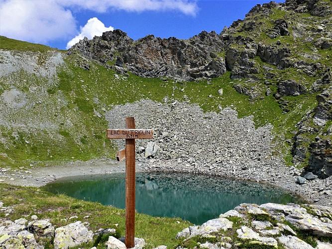 Pointe et  lac de Friolin. (Boucle)