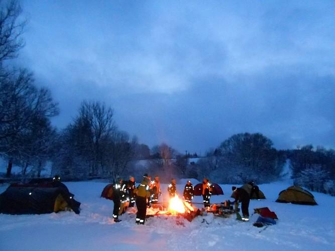 Wirtzfeld - Sport Hotel - Campement et feu