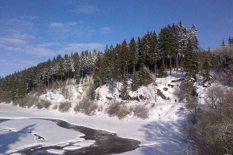 Adventure valley Wirtzfeld - Bullange - Paysage enneigé