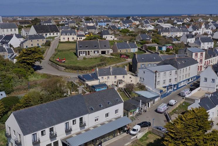Vue aérienne du bourg