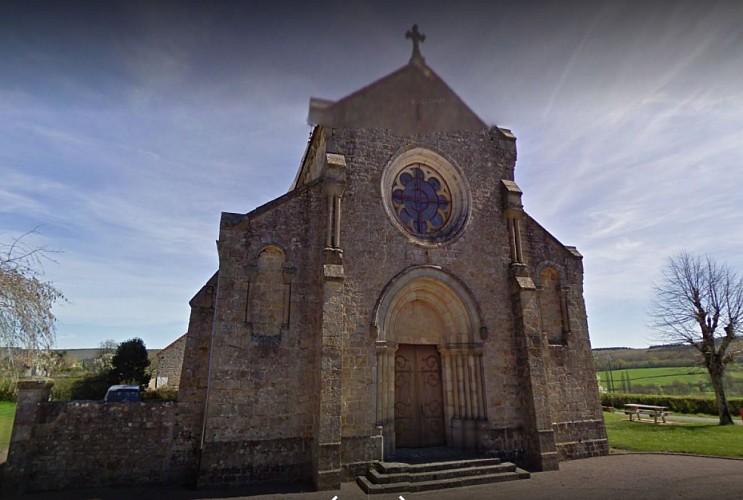 Saint-Martin-de-Salencey : façade à rosace