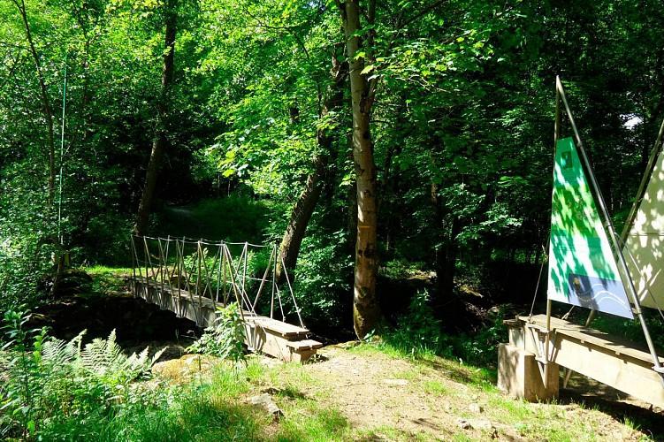 The low footbridge