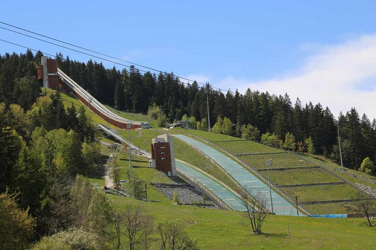 THE OLYMPIC SKI JUMPING VENUE