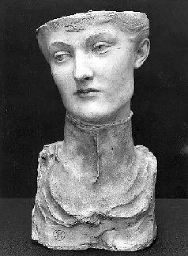 Masker van een jonge Engelse vrouw / Masque de jeune femme anglaise