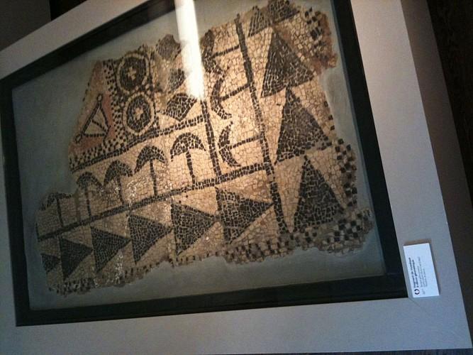 Fragment de mosaïque à décor géométrique