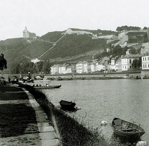 Vue sur Meuse et Grand Hôtel