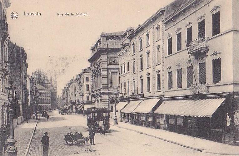 rue de la Station - Leuven +/- 1920