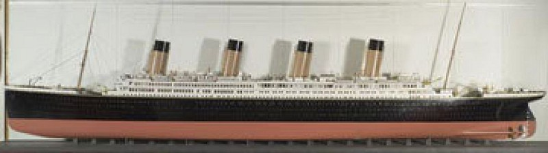 Builder's model of the Olympic/ Titanic, 1912