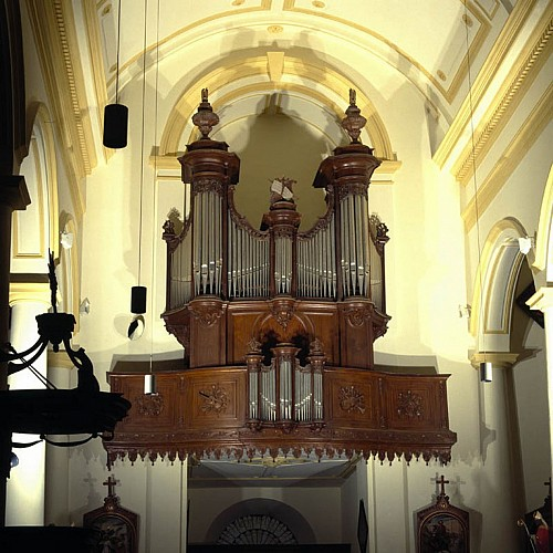 The organ of the church of Our Lady of the Assumption