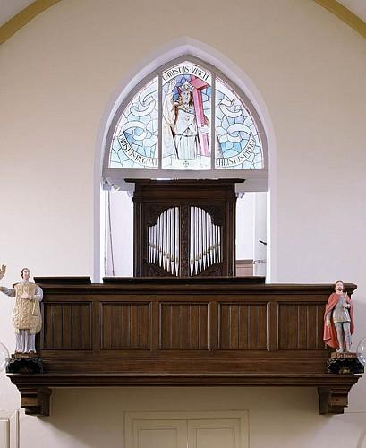 The organ in St Paul's church