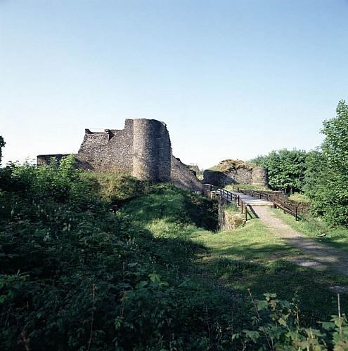 Les ruines du château fort