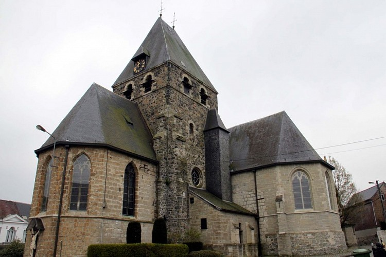 De kerk van Saint-Martin de Deux-Acren