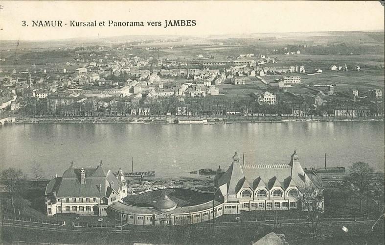 Das Kasino und die Brücke Pont de Jambes