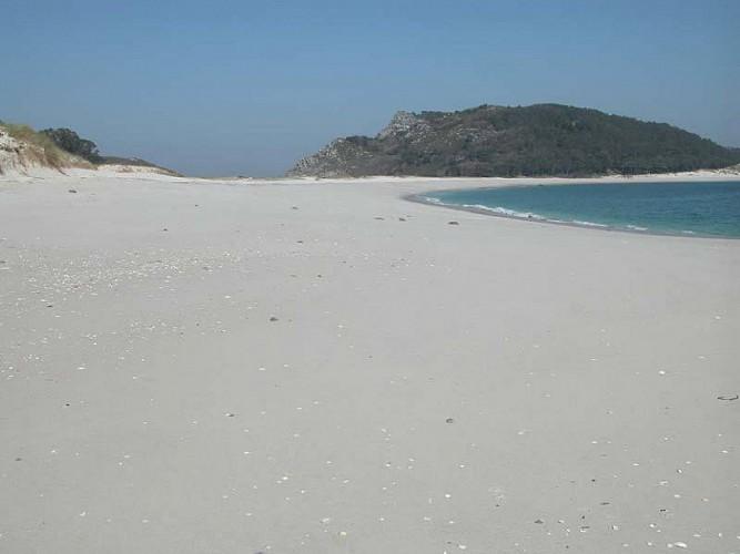 Rodas Sandy area, The dune systems and the history os Cíes islands