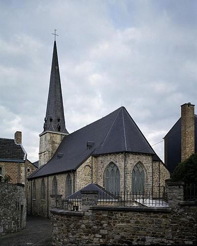 De kerk van Saint-Mengold