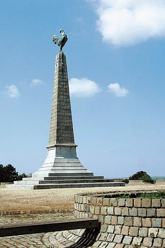 La stèle commémorative « Le Coq » à Jemappes