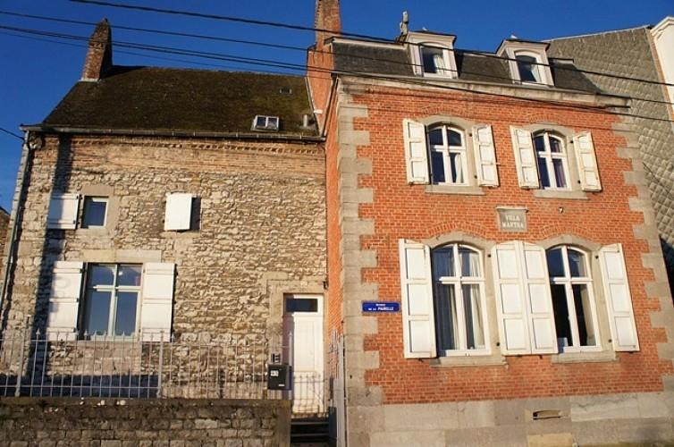 Maisons, avenue de la Pairelle et chapelle Notre-Dame de Lorette