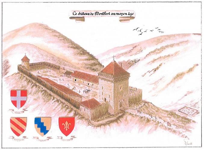 Ruines du château de Montfort
