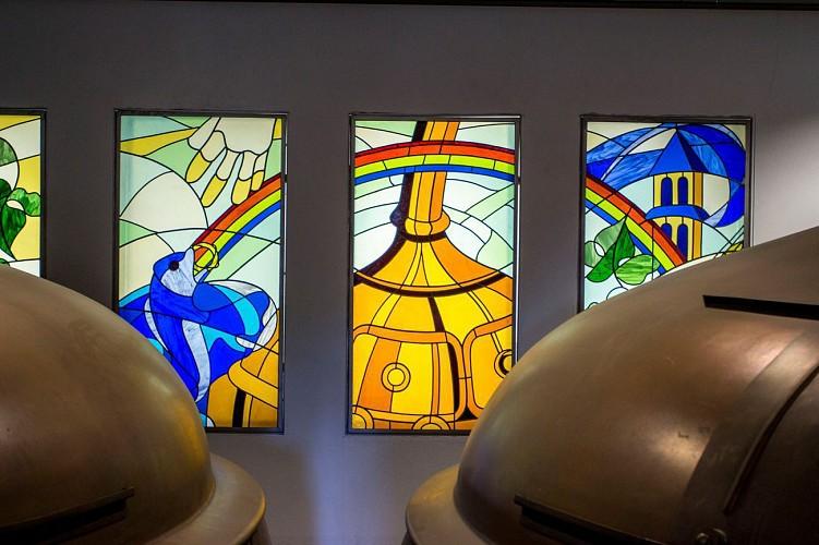 Het biermuseum in de abdij van Orval
