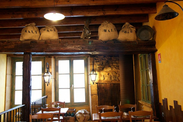 Traditional brasserie in the fortified castle