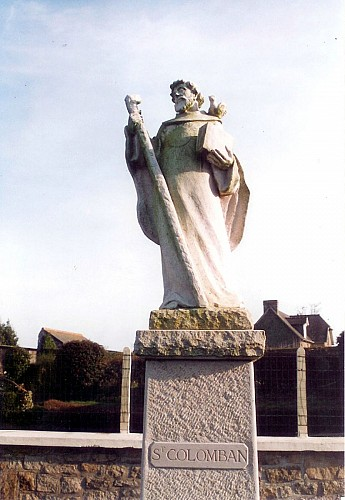 Statue Saint Colomban