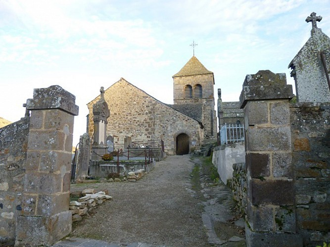 The site of Chastel in Saint-Floret