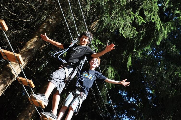 Mont Favy tree-top adventure park