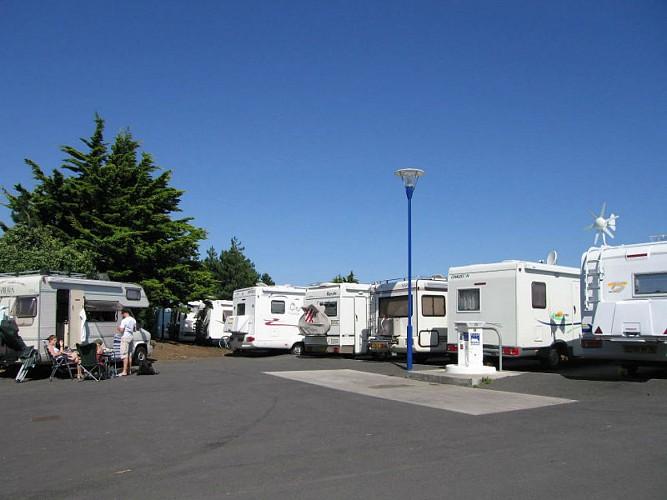 Ouistreham municipal camper van park