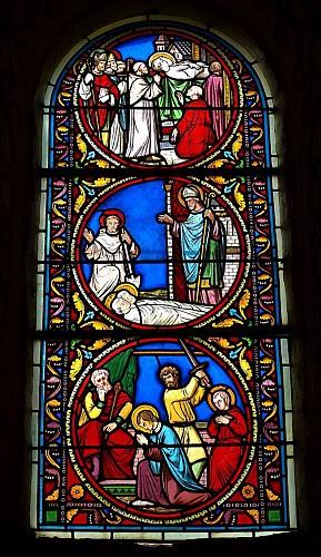 L'église Saint-Gervais-Saint-Protais de Civaux  et piscine baptismale