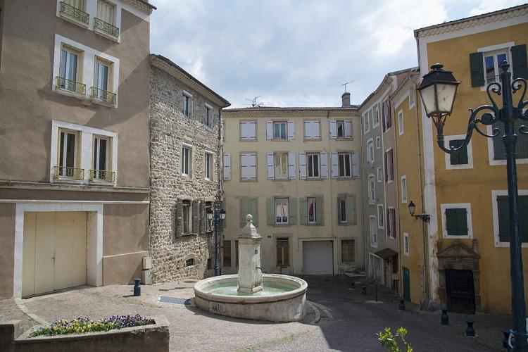 Grenette square, its fountain and grain market
