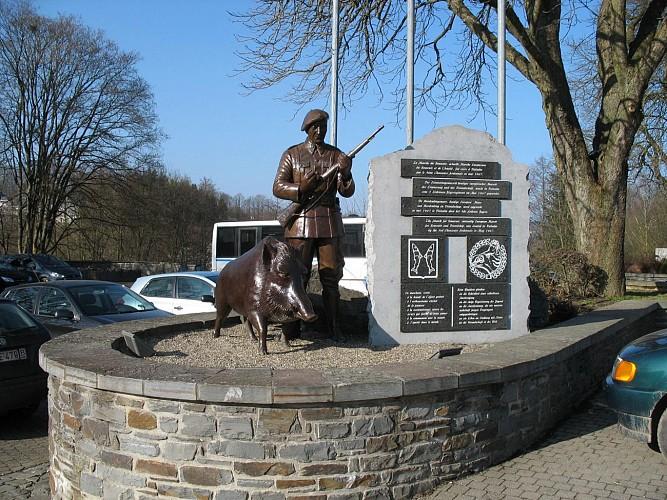 Statue du 3ème Régiment des Chasseurs Ardennais