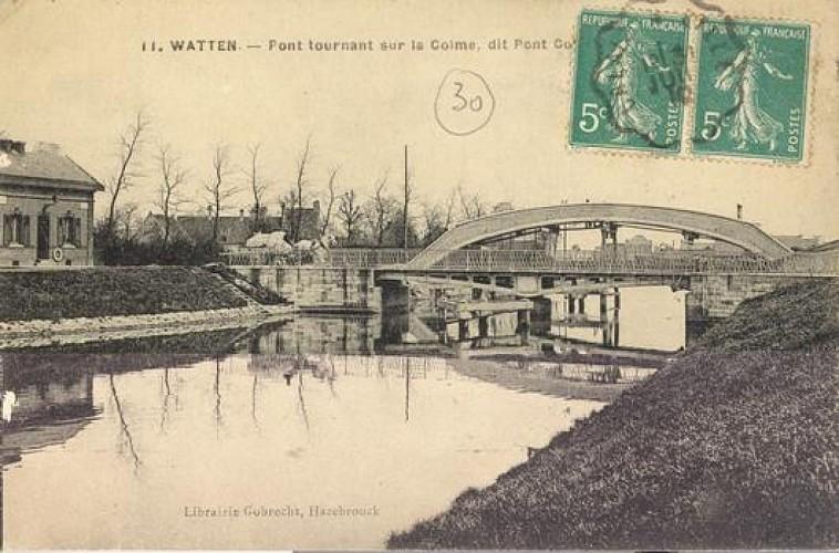 La Colme et l'ancienne passerelle des eaux de Houlle