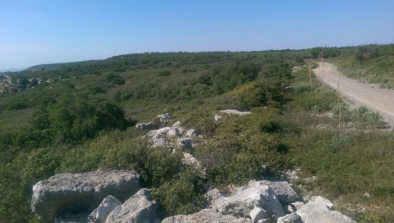 Vue sur l'étang de l'Arnel et la côte Palavasienne