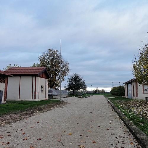Départ itinéraires balisés parking Jacques Copeau à Demigny 71150