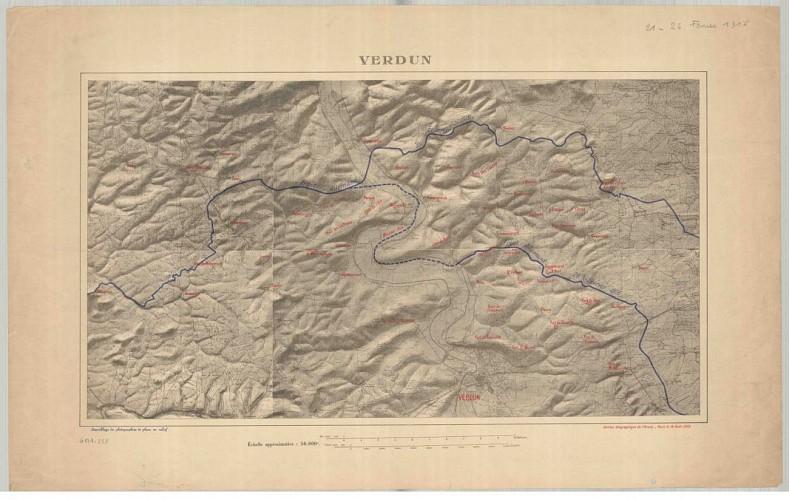 Front de Verdun le 26 février 1916