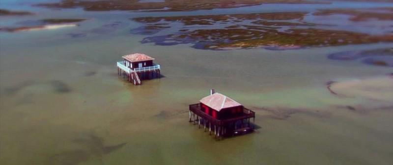 L'Ile aux Oiseaux et les cabanes tchanquées