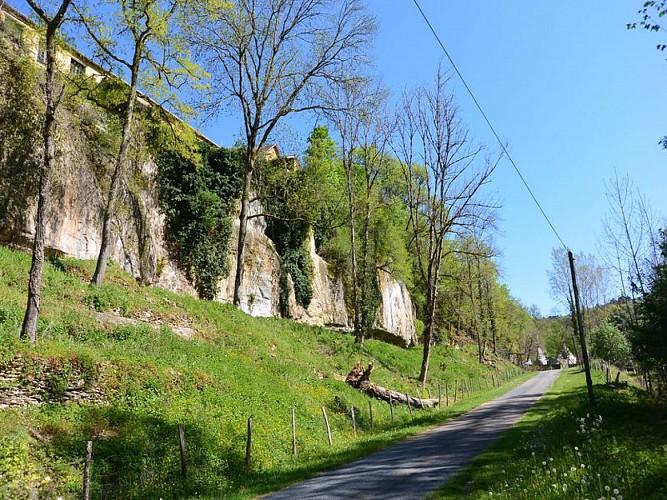 Le vallon des Roches à Castelmerle