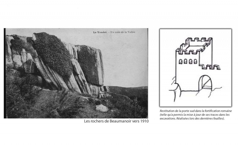 La porte Sud aux rochers de Beaumanoir