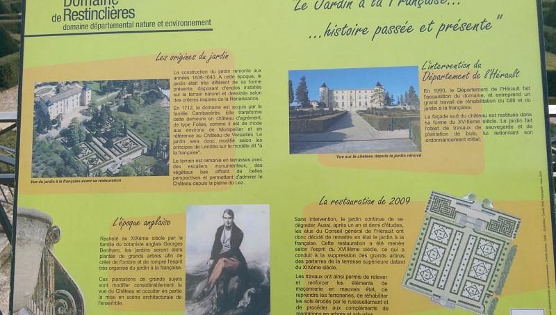 L'Histoire du Jardin à la Française du Château de Restinclières