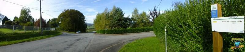 Départ - Parking terrain de football de Saint-Martin-Terressus - Le Breuil