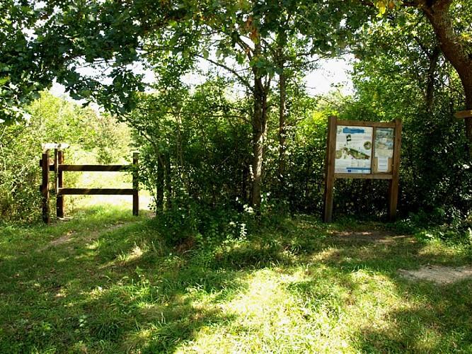 L'entrée du site naturel préservé