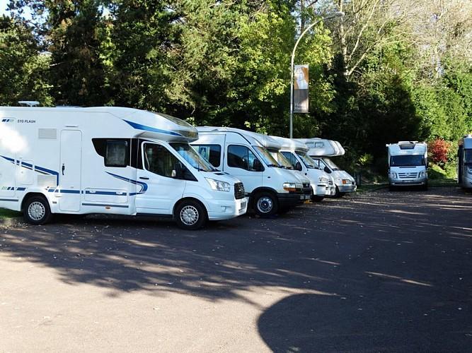 Lisieux camper van parking area