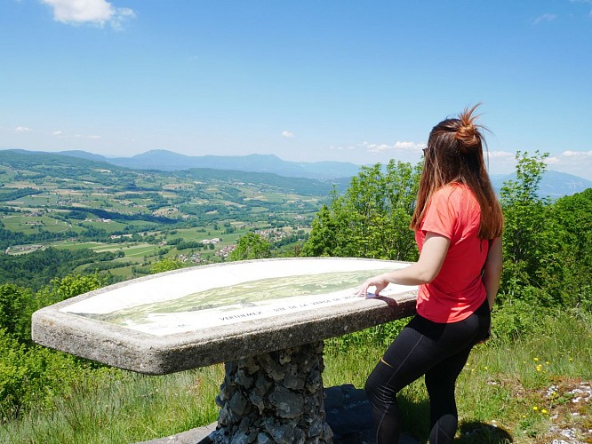 "Viewpoint indicator of ""La Vierge de Vacheresse"""