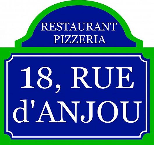 "RESTAURANT PIZZERIA ""18 RUE D'ANJOU"""