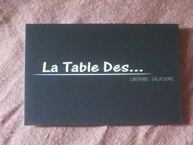 RESTAURANT LA TABLE DES...