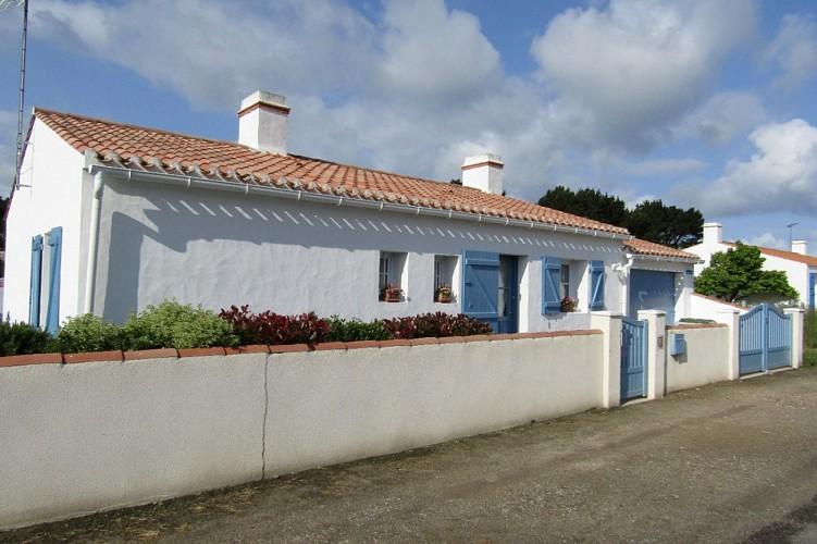 Maison à l'herbaudière près des marais salants sur l'ile de Noirmoutier