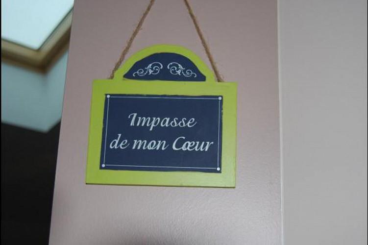 CHAMBRE D'HOTES LA COURILLERE - IMPASSE DE MON COEUR