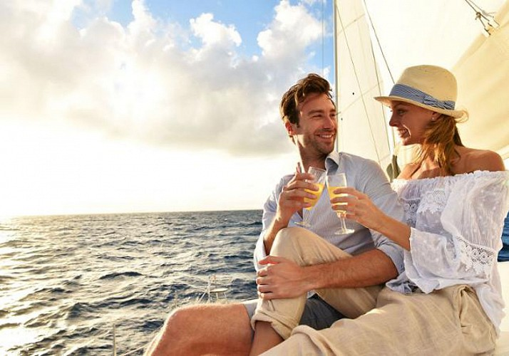 Sunset Catamaran Cruise with Glass of Champagne