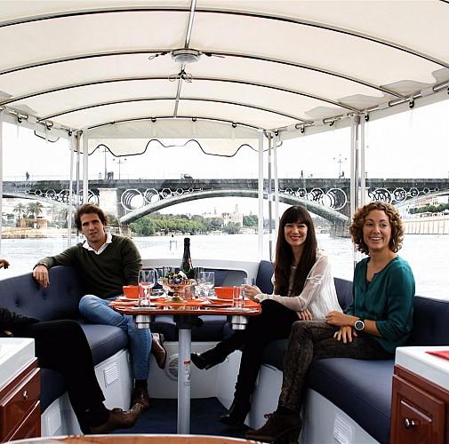 Croisière en bateau électrique à Séville sur le Guadalquivir – avec ou sans boisson