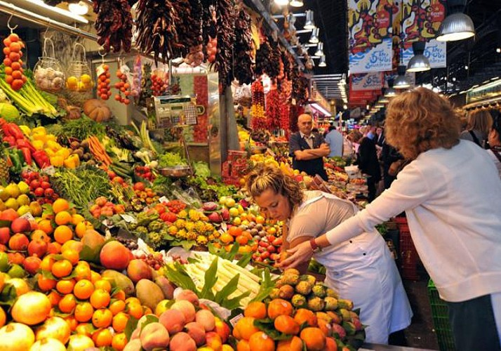 Balade gourmande et visite du Jamon Experience à Barcelone